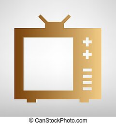 TV sign. Flat style icon