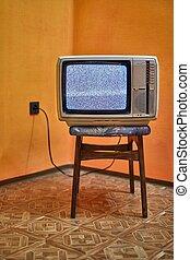 tv, sinal, antigas, não