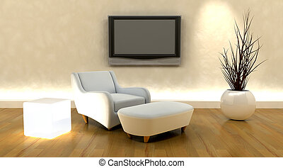 tv, sofa, render, 3d