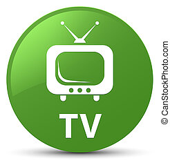 TV soft green round button
