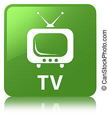 TV soft green square button