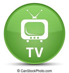 TV special soft green round button