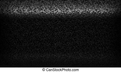 High definition animated loop of television static rolling down the screen.