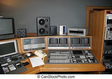 TV Studio Gallery - TV Studio gallery with monitors and...