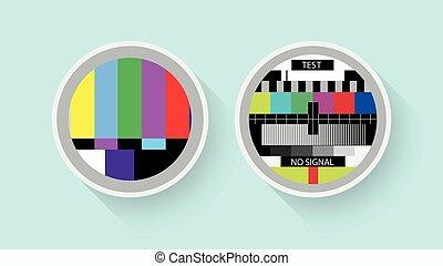 tv, test, kleur