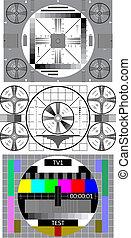 tv test pattern - tv test signal pattern screen