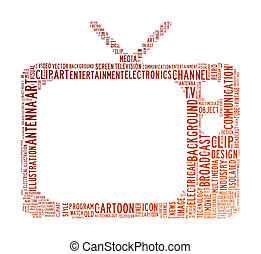 tv text cloud