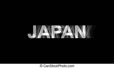 tv, texte, effet, déformation, glitch, animation, 4k, numérique, japon, boucle