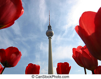 TV Tower, Berlin - TV Fersehturm (Television tower) in...