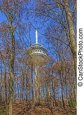 tv tower in Eppenheim with antenna