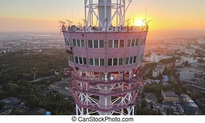 TV tower in the morning at dawn in Kyiv, Ukraine - TV tower ...
