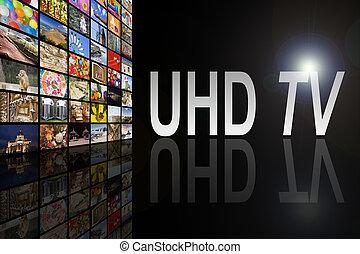 tv, uhd, conceito