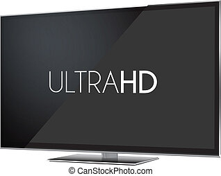 Isolated Illustration of Ultra high definition television