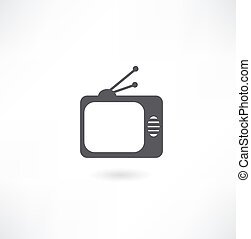 tv, vecteur, icône