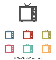 TV vector icons set