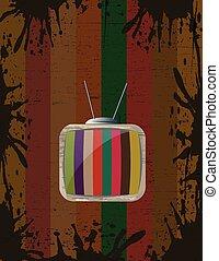 tv, vendange, fond