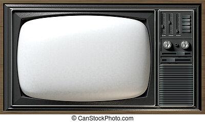 tv, vendange, plat