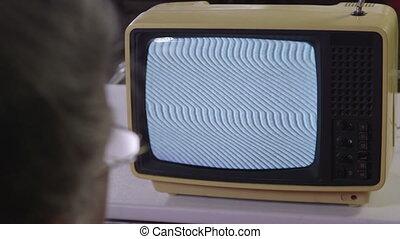 tv, vendange, regarder