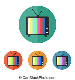 tv, vetorial, ícone