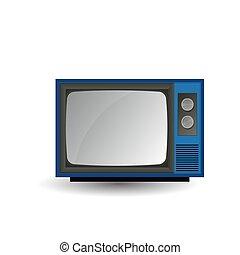 tv., vetorial, antigas, ilustração