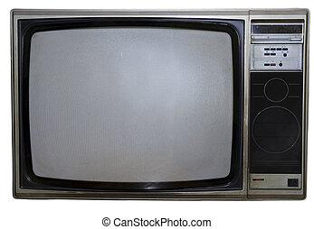 tv, vieux, sale
