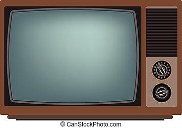 tv, vieux, screen.