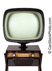 tv, vindima, levantar