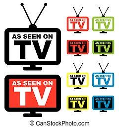 tv, visto