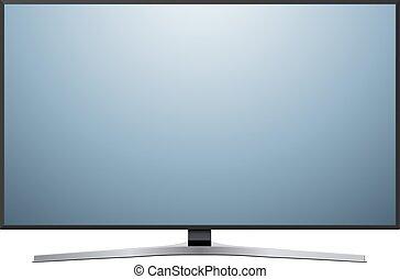 tv, vit, isolerat