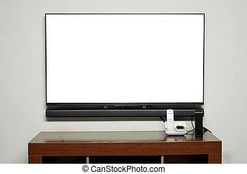 tv vivente, tavola, stanza, telefono
