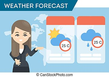 TV weather forecast.