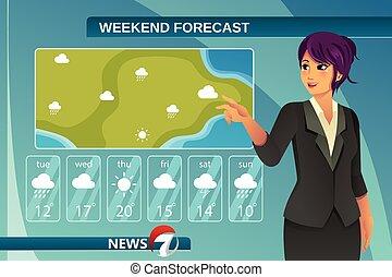 TV Weather News Reporter