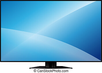 TV with a large blank screen - new model flat TV with a...