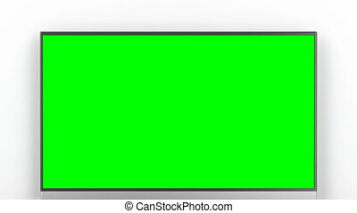 Tv with green screen in the living room - Tv with green...