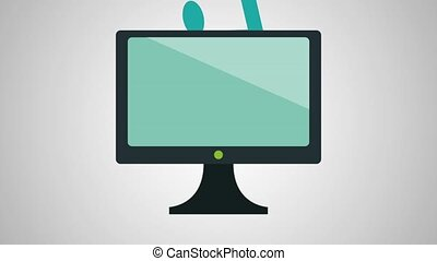 tv with music application animations  illustration design
