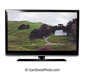 tv with nature