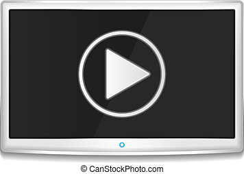 TV with Play Button