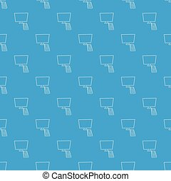 TV with remote pattern vector seamless blue