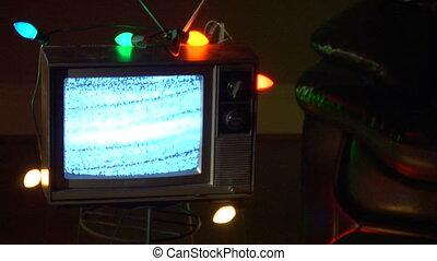 TV xmas mdm loop - This is a unique shot of a Retro TV...
