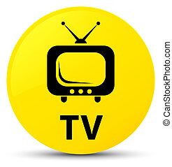 TV yellow round button