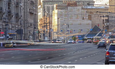 Tverskaya Street is one of the main radial streets in Moscow...