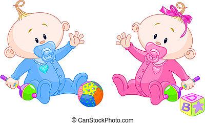 tvillinger, sød