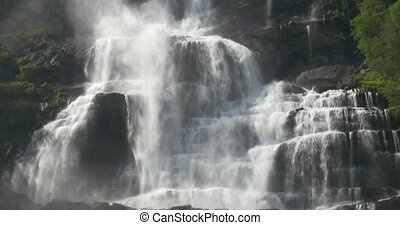 Tvindefossen Waterfall, Norway - Untouched and stabilized...