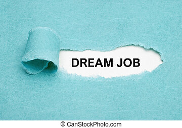 twój, pojęcie, praca, znaleźć, sen