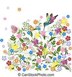 twój, projektować, ozdoba, kwiatowy