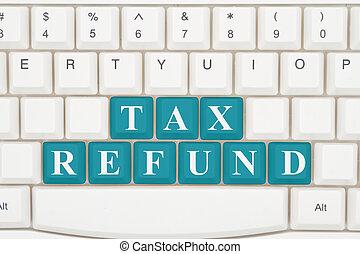 twój, przygotowując, podatki, internet