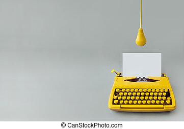 twórczość, maszyna do pisania, rocznik wina
