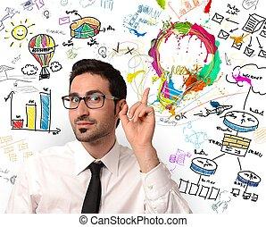 twórczy, handlowa idea