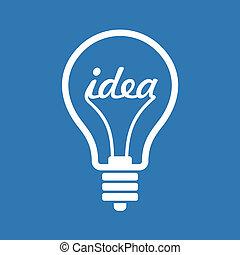 twórczy, idea, w, bulwa, formułować, jak, natchnienie, pojęcie, icon., wektor