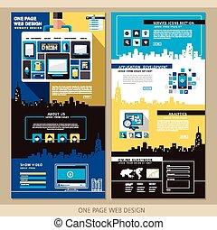 twórczy, jeden, strona, website, projektować, szablon